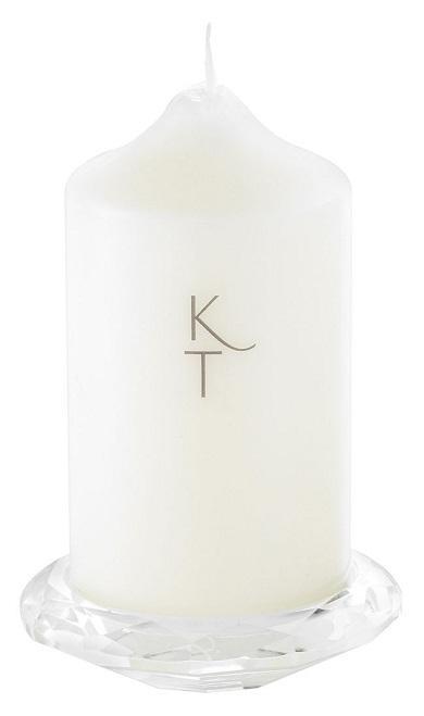 Kenneth Turner Crystal Pillar Candle Holder