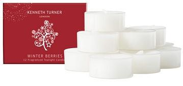 Kenneth Turner Winter Berries Tealight Candles