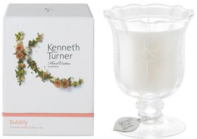 Kenneth Turner Candle in Posy Vase - Bubbly