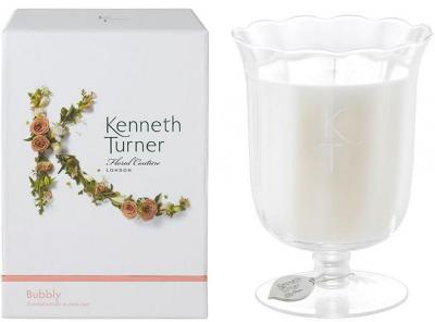 Kenneth Turner Candle in Stem Vase - Bubbly