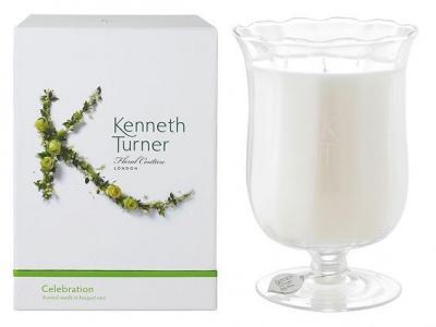 Kenneth Turner Candle in Bouquet Vase - Celebration