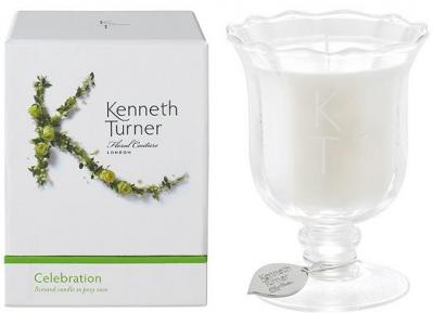 Kenneth Turner Candle in Posy Vase - Celebration