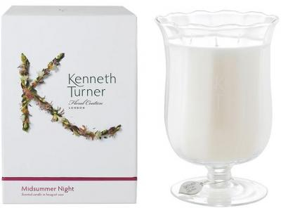 Kenneth Turner Candle in Bouquet Vase - Midsummer Night