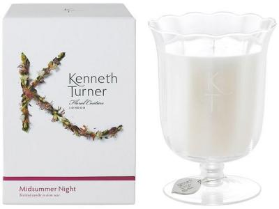 Kenneth Turner Candle in Stem Vase - Midsummer Night