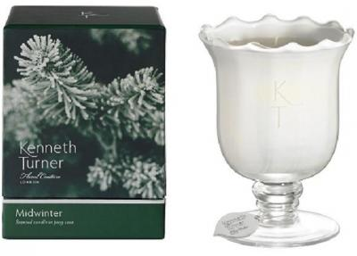 Kenneth Turner Candle in Posy Vase - Midwinter