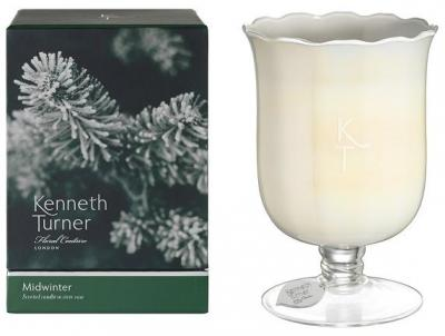 Kenneth Turner Candle in Stem Vase - Midwinter
