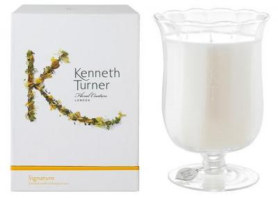 Kenneth Turner Candle in Bouquet Vase - Signature