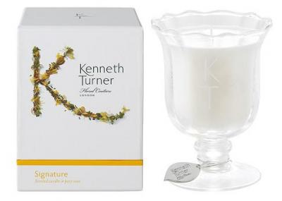Kenneth Turner Candle in Posy Vase - Signature