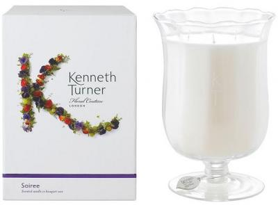 Kenneth Turner Candle in Bouquet Vase - Soiree