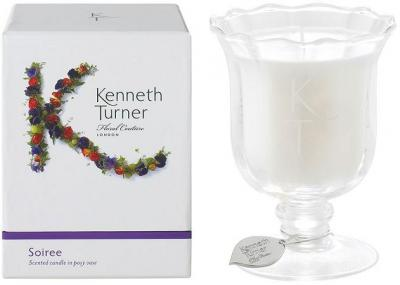 Kenneth Turner Candle in Posy Vase - Soiree