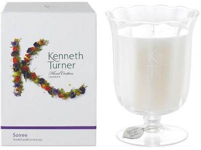 Kenneth Turner Candle in Stem Vase - Soiree