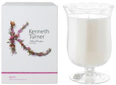 Kenneth Turner Candle in Bouquet Vase - Spirit