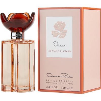 Oscar de la Renta Orange Flower