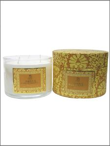 Shearer Amber and Rose Fondant 3 Wick Candle in Gift Box
