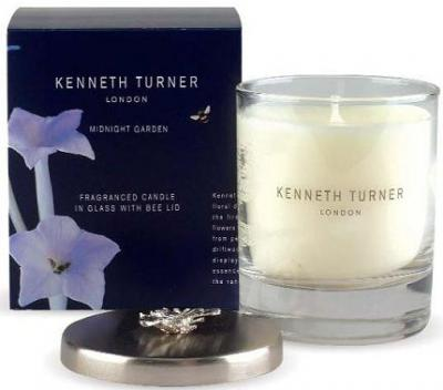 Kenneth Turner Midnight Garden Candle in Glass