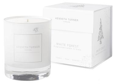 Kenneth Turner White Forest Candle in Glass