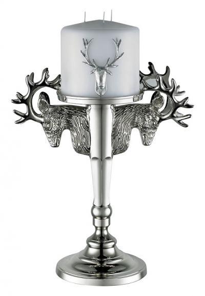 Kenneth Turner Stag Head Candlestick